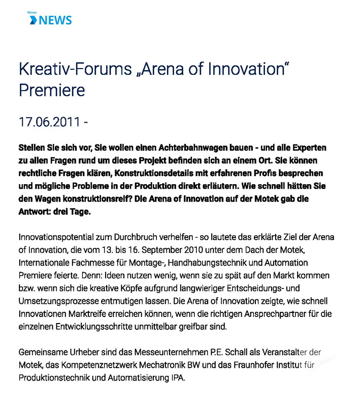 Presse Kreativ-Forum Arena of Innovation-Premiere _ wileyindustrynews