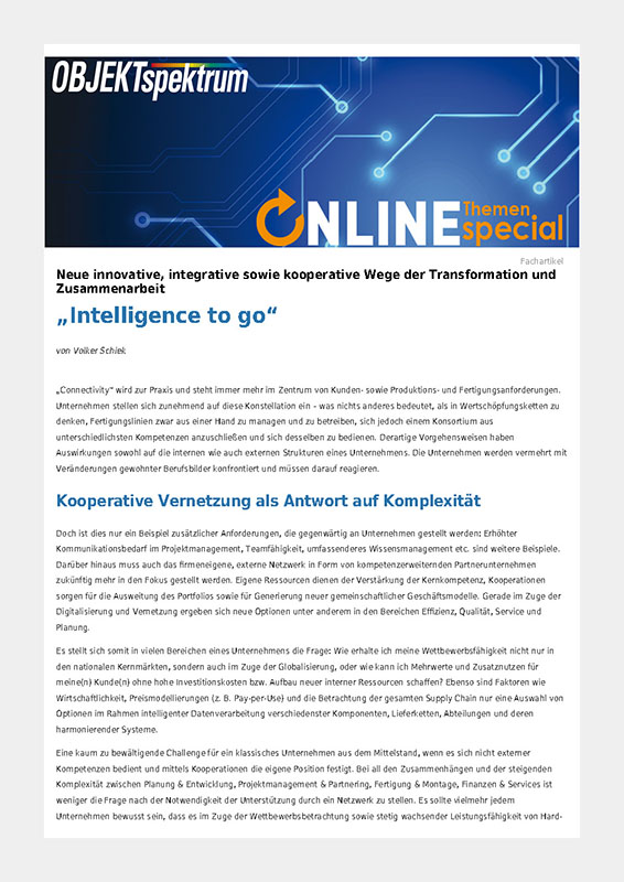 Presse Intelligence_to_go, Objektspectrum 10-2019